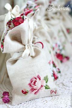 Купить Мешочки с вышивкой - вышивка, Вышивка крестом, ручная вышивка, вышивка крестиком, мешочек с вышивкой