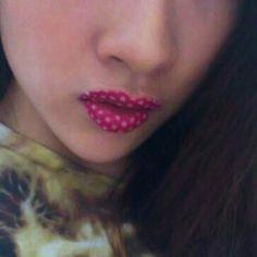 $3.14 Fashion Temporary Lips Tattoo Round Dot Print Lipstick Art Make-up 26
