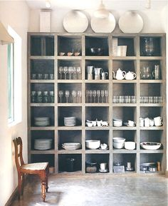 Beautiful Way to Display your dishes, stemware, etc.