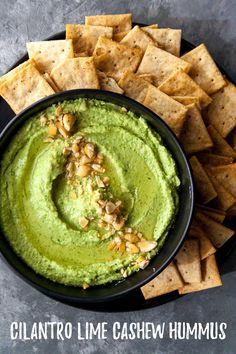 Cilantro Lime Cashew Hummus – Hungry by Nature Cilanto Lime Cashew Hummus Paleo Recipes, Whole Food Recipes, Meal Recipes, Recipies, Appetisers, Appetizer Recipes, Paleo Appetizers, Food Processor Recipes, Healthy Snacks
