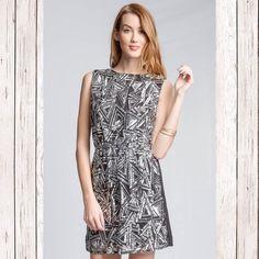 Sequin geometric pattern dress Silver sequin geometric pattern dress. The back in plain. Full lined dress Dresses Prom