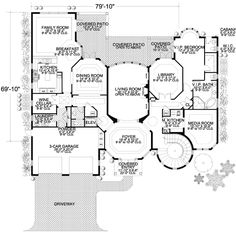 Storybook Manor Fit for a King - 32069AA | Architectural Designs - House Plans