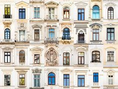 Bucharest, Romania: andre goncalves' 'windows of the world' and 'doors of the world' series highlight the culture and community of a place through architectural photography. Evora Portugal, Goncalves, Unique Architecture, Renaissance Architecture, Grid Design, Window Design, Windows And Doors, House Design, House Styles