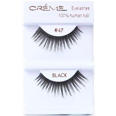 Creme Lush Faux Lashes ($2.99) ❤ liked on Polyvore featuring beauty products, makeup, eye makeup, false eyelashes, black and black eye makeup