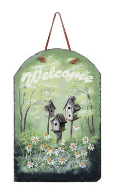 Outdoor Slate Welcome Signs | Home :: Signs Plaques & Pictures :: Slate - Welcome Sign
