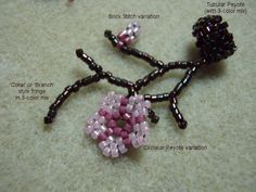 Cherry Blossom on fringe.  #Seed #Bead #Tutorials