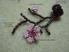 Cherry Blossom circular peyote tutorial.  Sakura is one of the motifs for April.