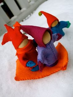 Acorn Pies: How to Make a Snow Child Toy  Excellent tutorial