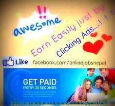 Earning oppotunities online from your home, Clixsense is the best platform which pays you for your clicks on its ads along with different other earning ways . You can learn more about  clixsense here at http://earnonlinefromhomejobs.blogspot.com/2014/06/earn-online-clicking-ads-clixsense_16.html  Check it out friends, Happy Earning !!