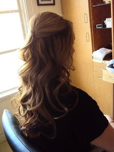 soft curls with a bit of a poof.
