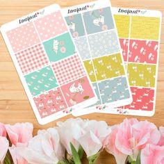 bunny planner sticker kit|  for erin condren planner stickers| happy planner stickers