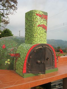 Mosaic pizza oven by Ernesto Spinelli, San Ramon, Costa Rica
