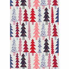 Marimekko Kuusikossa Grey/Red/Blue Fabric