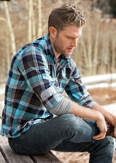 mens blue flannel shirt style - Google Search