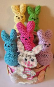 Make These Adorable Crochet Bunny Peeps with My Free Easy Pattern.