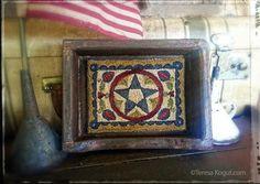 USA finished punchneedle for sale by Teresa Kogut. Creative Whims | Primitive Handmades Mercantile