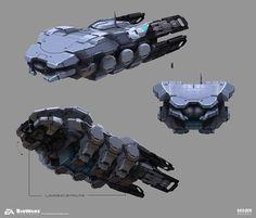 Mass Effect Andromeda - Transport Vessel, Brian Sum on ArtStation at https://www.artstation.com/artwork/X93Jn