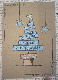 could use, Oh, Christmas Tree, Oh Christmas Tree too Jo Firth-Young Christmas card
