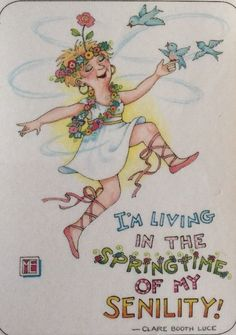 Handmade Fridge Magnet-Mary Engelbreit Artwork-I'm Living In The Springtime