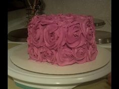 Easy to Make Shabby Chic Rose Cake Decorating Tutorial