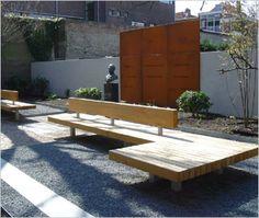 bench idea for garden