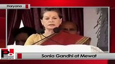 "Congress President and UPA Chairperson Sonia Gandhi launched her election campaign in Haryana for the upcoming Lok Sabha polls by addressing a mega party rally at Mewat. ""This is election time and we are all standing at a crucial phase today where one must decide on our country's future."