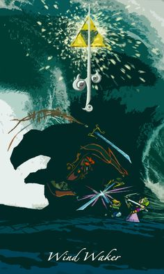 The Legend of Zelda: The Wind Waker - fan art The Legend Of Zelda, Geeks, Hyrule Warriors, Nintendo, Link Zelda, Wind Waker, Twilight Princess, Breath Of The Wild, Video Game Art