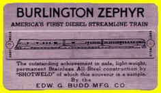 Stainess steel card with examples of shot welding given as souvenirs from the Budd Company (c.1934).