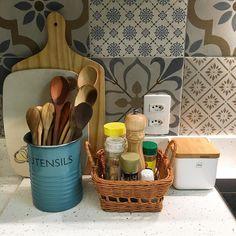 """De Casa Nova no Instagram: """"Cozinha organizada ✅ #minhacozinha #kitchen #home #house #decor #decoracion #decoration #details #detalhes #style #blue #utensílios…"""""""