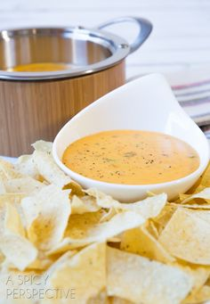 BEST EVER Nacho Cheese Sauce (Queso) by @Sommer | A Spicy Perspective