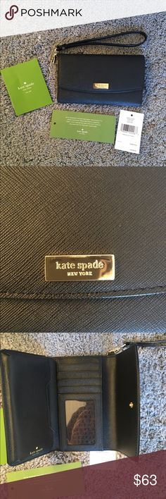 NWT KATE SPADE LAUREL WAY IPHONE WRISTLET 6/6S Brand new, with tags, never used. Only thing is that in upper side of the Kate spade plaque has a a scratch. You can see it in the picture 2. Other than that there are no defects. Price is firm, no trades! kate spade Bags Wallets