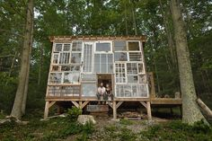 Cabin made from windows (West Virginia): http://curious-places.blogspot.co.nz/2017/04/cabin-made-from-windows-west-virginia.html