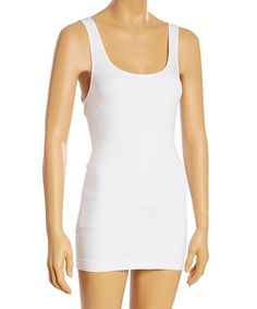 7-----This White Long Shaping Camisole - Plus is perfect! #zulilyfinds