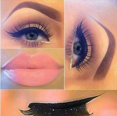 black eye line and pink lips :*