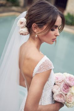"""Today we're sharing with you a bridal collection full of shine and glam! Anna Campbell created another fabulous collection called """"Wanderlust"""" with dreamy wedding dresses that will fill your special day with sparkle and Fit And Flare Wedding Dress, Perfect Wedding Dress, Bridal Collection, Dress Collection, Bridal Gowns, Wedding Gowns, Wedding Veil, Sequin Wedding, Peacock Wedding"""