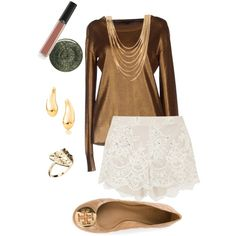 Don't know how to wear lace shorts but this is how I probably would if I had any. Lace Shorts, Polyvore, How To Wear, Stuff To Buy, Shopping, Collection, Design, Women, Style