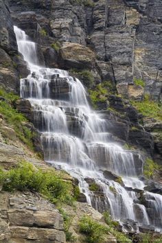 Waterfall near Logan Pass, Glacier National Park, Montana
