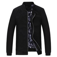 unisplendor 2017 Autumn Men Classic Stand Collar Thin Zipper Jacket Slim Fit Men's Casual Solid Color Coat Male Outerwear YN841