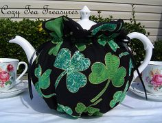 Tea Cozy for 68 Cup Teapot Luck of the Irish by CozyTeaTreasures, $17.95