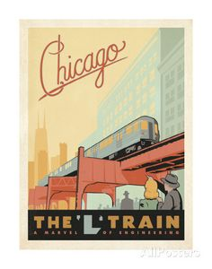Chicago: The 'L' Train by Anderson Design Group. Art Print from AllPosters.com, $12.99