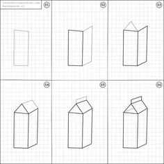How to draw a carton of milk.