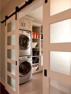 Making a laundry room that is both functional and stylish is not just a dream. Here are five functional and stylish laundry room design ideas for you. Basement Laundry, Laundry Room Organization, Laundry Room Design, Laundry In Bathroom, Laundry Rooms, Bathroom Plumbing, Small Laundry, Laundry Storage, Laundry Area