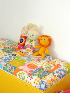 Handmade by alice apple. Amazing colour in this little girls' bedroom!