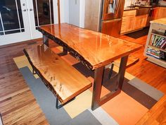 Clear Table Epoxy on wood table