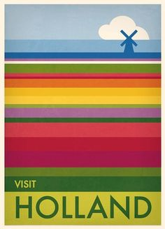 Travel Poster - Holland - by Julia Allum.