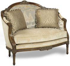 """The """"Shaylee"""" settee would look beautiful in any fabric combination."""