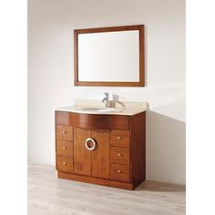 @Overstock - Revitalize your bathroom with this hardwood bathroom vanity. The vanity's streamlined design and cherry color go well with both traditional and modern decor. It features two double-deep drawers for your bathroom necessities, and it comes with a mirror.  http://www.overstock.com/Home-Garden/Berlin-42-inch-Classic-Cherry-Beige-Single-Sink-Vanity-Set/6047976/product.html?CID=214117 $1,546.79