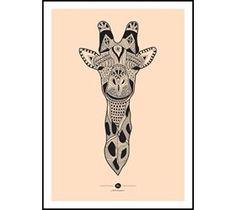 TARIK ARNAUTOVIS - Inca Giraffe (Løs plakat 50x70 cm - DKK 275,00, Orange)