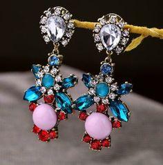♥Shourouk,Style,Statement,Rhinestone,Earrings,Shourouk earrings, Diamanté  Earrings, Statement Diamanté  Earrings ,rhinestone dangle earrings,fashion earrings 2013, earrings Oscar de la renta