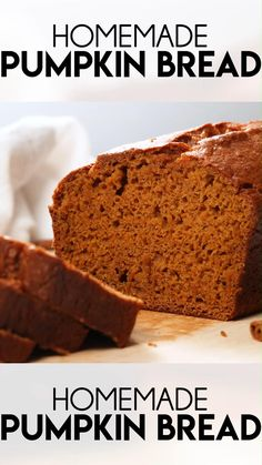 This homemade Pumpkin Bread is everything you want in a fall recipe. It is moist, fluffy, and bursting with fall flavors. No electric mixer is needed and this might just be the best no-fail quick bread recipe you'll ever find.